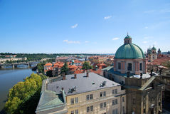 The Vltava in Prague Stock Photography