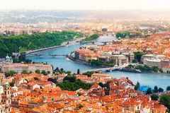 Vltava River And Bridges In Prague Royalty Free Stock Photography