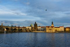 Vltava River and Bridges, Prague stock photos