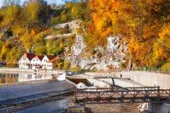Vltava river in Cesky Krumlov Royalty Free Stock Photo