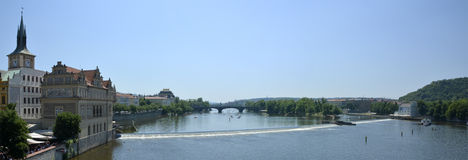 Vltava river from Charles bridge Royalty Free Stock Photography