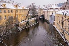Vltava River from Charles Bridge at Prague Stock Image