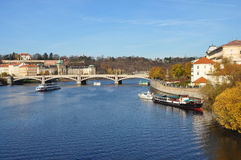 The Vltava river in Czech. The Vltava is the longest river in the Czech Republic Stock Photo