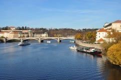 The Vltava river in Czech. Stock Photo