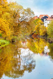 Vltava river in fall Stock Images