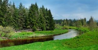 Vltava river - mountain nature reservation Stock Photography