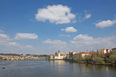 Vltava river in Prague royalty free stock photo
