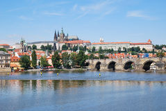 The Vltava river of Prague Royalty Free Stock Photos