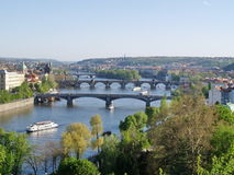 Vltava river of Prague Stock Photos