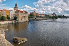 Vltava River in Prague Stock Photography