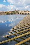 Vltava river and Prague Castle Royalty Free Stock Photos