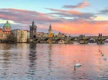 Vltava River, Prague Royalty Free Stock Image