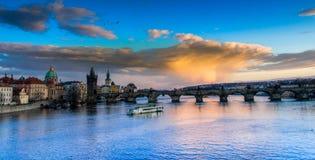 Vltava River, Prague Stock Photos