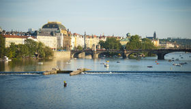 Vltava river in Prague, Czech republic Royalty Free Stock Image