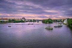 Vltava River in Prague, Czech Republic Stock Image