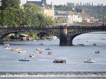 Vltava river in Prague Stock Image