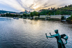 Vltava River in Prague, Czech Republic Royalty Free Stock Photos