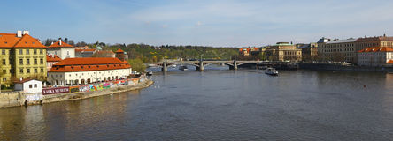 Vltava river in Prague Royalty Free Stock Photography