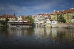 Vltava river, Prague. Old Town, Prague, Czech Republic Stock Photos