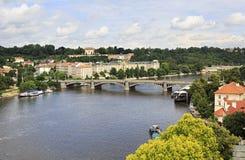 Vltava River in Prague. 's historical center Stock Photo