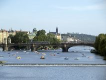 Vltava river in Prague Stock Photo