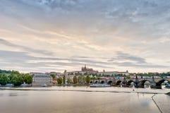 Vltava river from Rasinovo Street Stock Photo