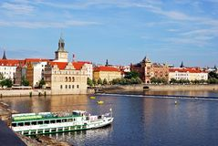 Vltava River view, Prague. Stock Photography
