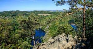 Vltava river view - vyhlídka Máj stock photos