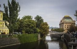 Vltava rzeka - Praga Zdjęcia Stock