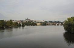 Vltava rzeka - Praga Zdjęcie Royalty Free