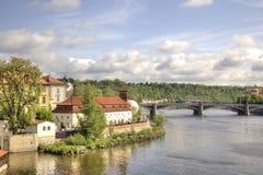 Vltavarivier royalty-vrije stock foto