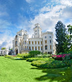 vltavou башни nad hluboka замока Стоковая Фотография RF