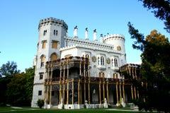 vltavou башни nad hluboka замока Стоковое Фото