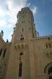 vltavou för torn för slotthlubokanad arkivfoton