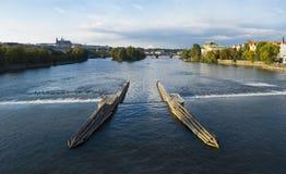 Vltavva στην Πράγα Στοκ εικόνα με δικαίωμα ελεύθερης χρήσης