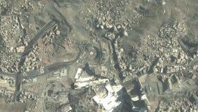 Vlucht aan de heilige stad Makkah en de heilige plaatsen vector illustratie