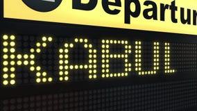Vlucht aan Kaboel op de internationale raad die van het luchthavenvertrek naar Afghanistan reizen stock illustratie