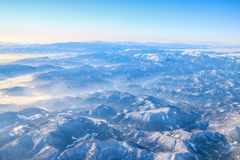 Vlucht aan Madera over Spanje Royalty-vrije Stock Afbeeldingen