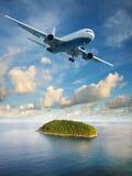 Vlucht aan paradijs Stock Afbeelding