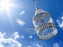 Vlucht aan vrijheid - concept Stock Afbeeldingen