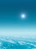 Vlucht boven de hemel Royalty-vrije Stock Afbeelding