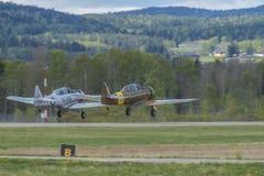 Vlucht dag 11 Mei, 2014 in Kjeller (airshow) Stock Afbeeldingen