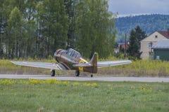 Vlucht dag 11 Mei, 2014 in Kjeller (airshow) Royalty-vrije Stock Foto's