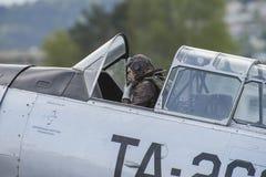 Vlucht dag 11 Mei, 2014 in Kjeller (airshow) Stock Foto