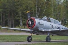 Vlucht dag 11 Mei, 2014 in Kjeller (airshow) Stock Foto's