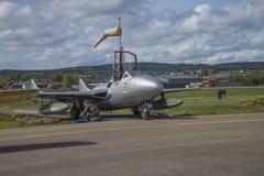 Vlucht dag 11 Mei, 2014 in Kjeller (airshow) Stock Fotografie
