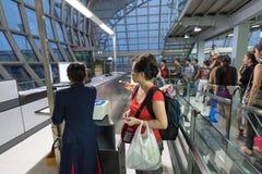 Vlucht die voor Saigon van Bangkok inschepen Royalty-vrije Stock Afbeeldingen