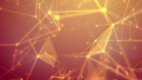 Vlucht door het abstracte oranje netwerk stock illustratie