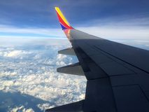 Vlucht in lucht Royalty-vrije Stock Afbeelding