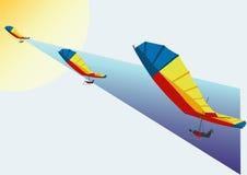 Vlucht op een hangen-zweefvliegtuig Royalty-vrije Stock Fotografie